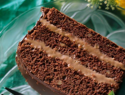 Schokoladenkuchen Mit Schokominz Creme Rezept Mondamin