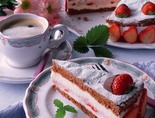 Schoko Quarktorte Mit Erdbeeren Rezept Mondamin